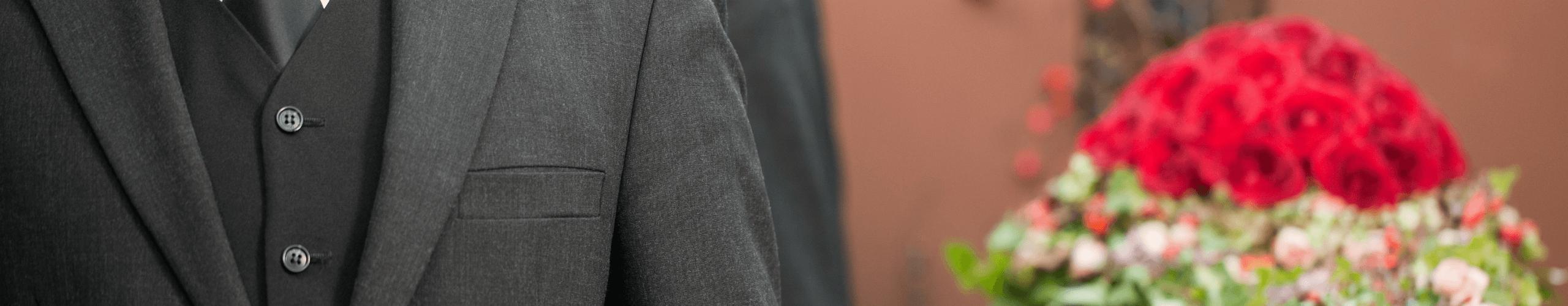 Funeral undertaker's suit